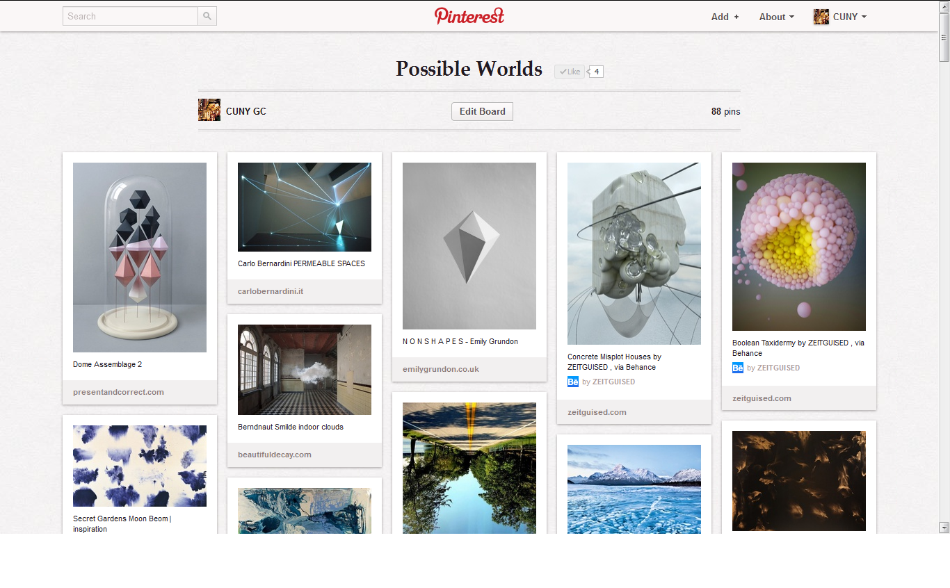 Possible Worlds Pinterest Board! View & Follow