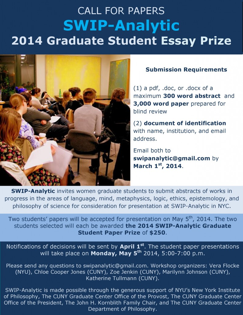 student essay prize Possible points of view for students to adopt in replying to lincoln and writing their essay: has our nation, conceived in liberty, and dedicated to the proposition.