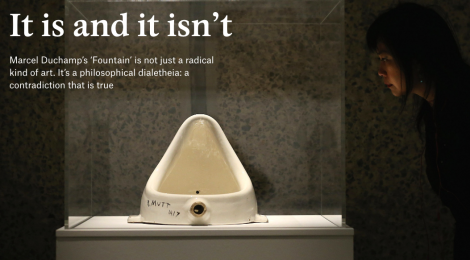 "Graham Priest w/ Damon Young in Aeon Magazine: ""How Can Duchamp's 'Fountain' Be Both Art and Not Art?"""